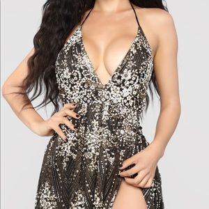 NWT Fashionnova Sequin Glitter Maxi Dress